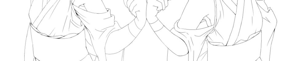 双子線画2