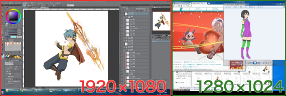 イラスト作業環境デスクトップキャプチャ画像