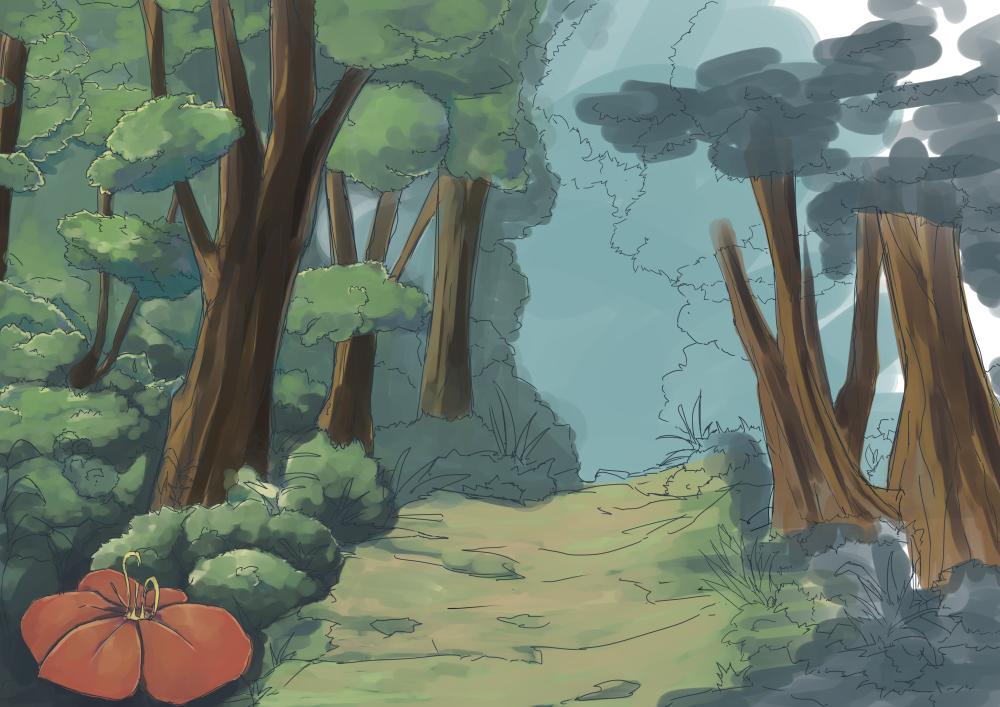 森背景彩色