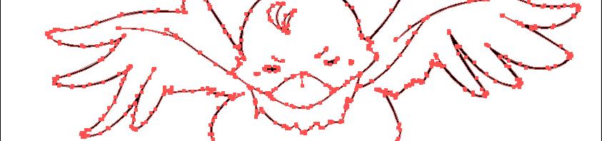 クリスタで描いたラスターの線画をベクターに変換した