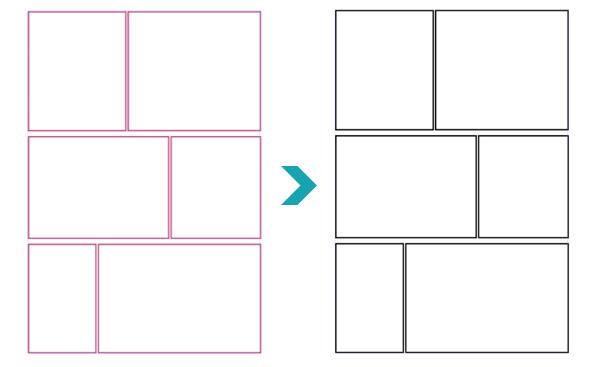 【CLIP STUDIO PAINT】のコマ割り線の色を変更する方法