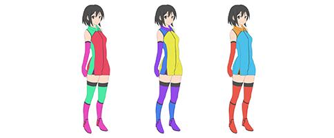 イッテンの色相分割法「スプリットコンプリメンタリー」配色